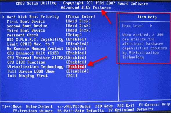 各种常见的BIOS系统怎么开VT