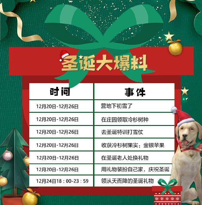 明日之后:圣诞活动开启,不止狗子戴上圣诞帽,还有天降礼物!