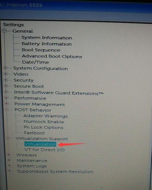 戴尔电脑与戴尔笔记本开VT的BIOS设置方法