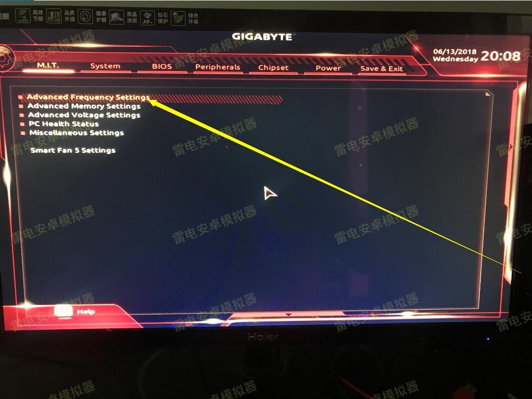 【雷电说明书】技嘉主板开VT的BIOS设置方法